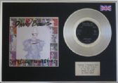 "DAVID BOWIE  - 7"" Platinum Disc + cover - ASHES TO ASHES"